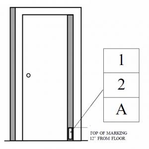 door sign mounting diagram