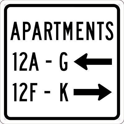 retroreflective hallway corridor directional sign