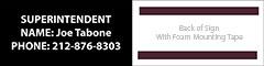 HMC 27 2053 Janitor Name Address Sign